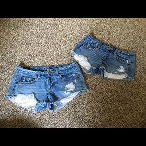 AE Destroyed Festive Shorts